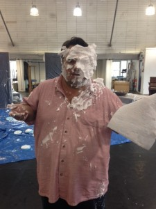 Our Fatty Arbuckle, Jack Edwards, survived a pie attack!